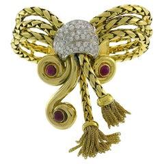 Vintage 18k Gold Retro Tassel Bracelet Signed CFC Sweden