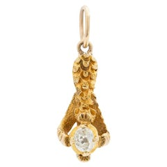 Vintage 18 Karat Yellow Gold and Diamond Talon, circa 1930s