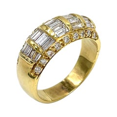 Vintage 18k Yellow Gold Diamond Ring, Circa 1985