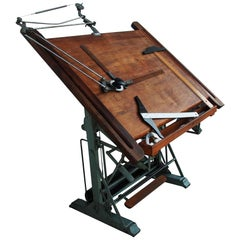 Vintage 1900s French Drafting Table