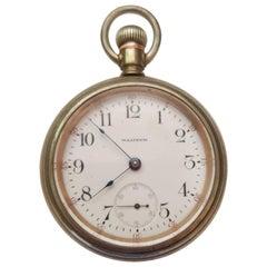 Vintage 1903 Waltham Pocket Watch, Silver, Model 1883, Case, 17 Jewels
