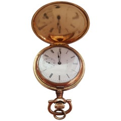 Vintage 1909 Gold-Plated Elgin Pocket Watch, Working, Very Good Condition