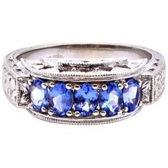 Vintage '1920-1935' 14 Karat White Gold Tanzanite Ring