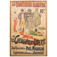 Vintage 1920 Poster 'Les Quotidien Illustre/chevaliers de la Liberte
