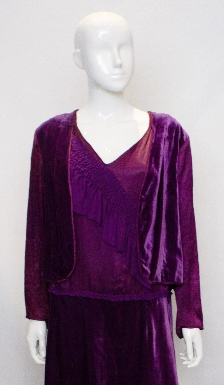 Women's Vintage 1920s Dress with Faux Bolero For Sale