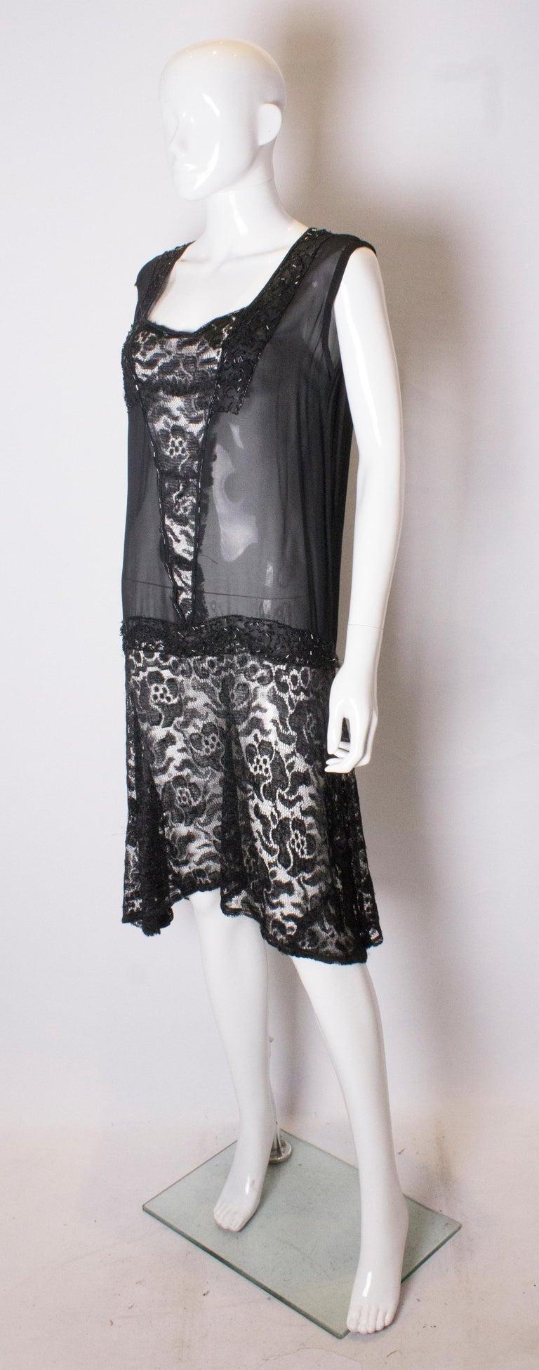 Black Vintage 1920s like Cocktail Dress For Sale