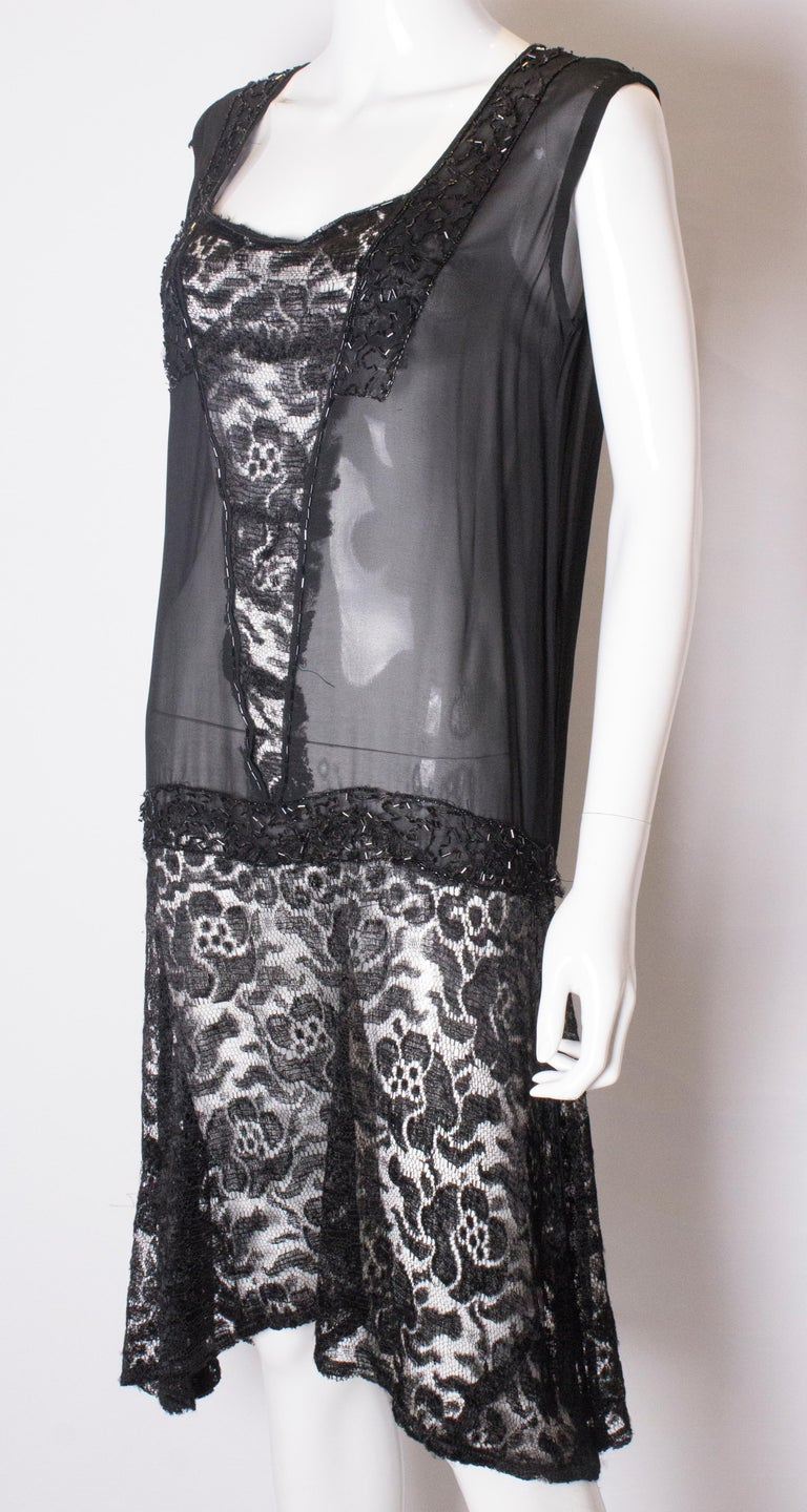 Vintage 1920s like Cocktail Dress In Good Condition For Sale In London, GB