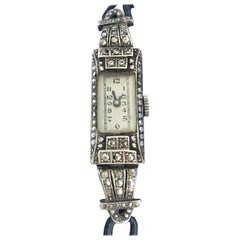 Vintage 1920s Silver and Marcaseed Ladies Cocktail Mechanical Watch