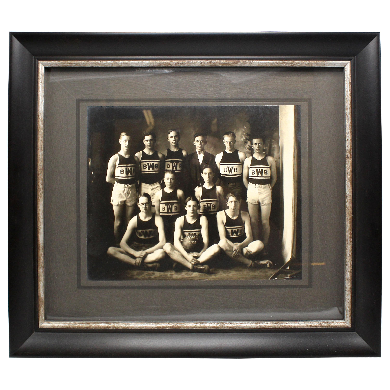 Vintage 1920s W.H.S. Basketball Team Photograph