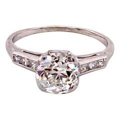 Vintage 1930s 1.50 Carat Old European Cut Diamond Ring