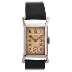 Vintage 1930s Chromium-Plated MEDA 'Roamer' Swiss Mechanical Watch
