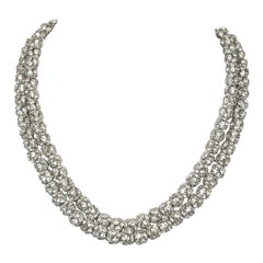 Vintage 1930s Crystal Ball Necklace