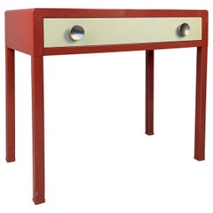 Vintage 1930's Enameled Steel Desk by Norman Bel Geddes for Simmons