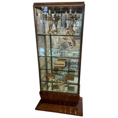 Vintage 1930s French Art Deco Display Case / Vitrine
