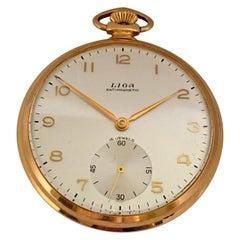 Vintage 1930s Gold-Plated Dress Pocket Watch