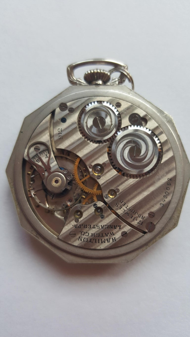Vintage 1930's Hamilton 14k Gold Filled Pocket Watch, Grade 912, Rotating Seconds, 17 Jewel, Adjusted, Hamilton Watch Co., Good Condition Manufacturer Hamilton. Beautiful watch and more rare to find the model with rotating seconds, engraved design,