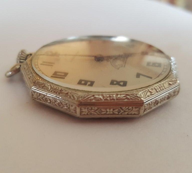 Women's or Men's 1930s Hamilton 14 Karat Gold Filled Pocket Watch, Grade 912, Rotating Second For Sale