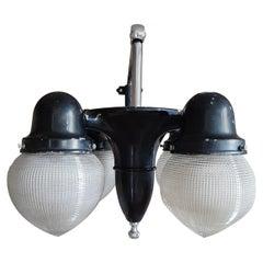 Vintage 1930s Holophane Dentist Overhead Light