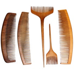 Vintage 1930s Japanese Tsuge Wood Comb Collection