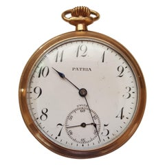 Vintage 1930s Patina Pocket Watch, Working, Self Winding, Very Good Condition