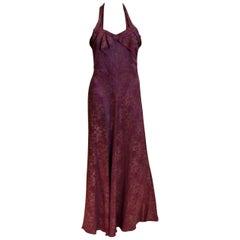 Vintage 1930s Purple Lame Gown by Elvena