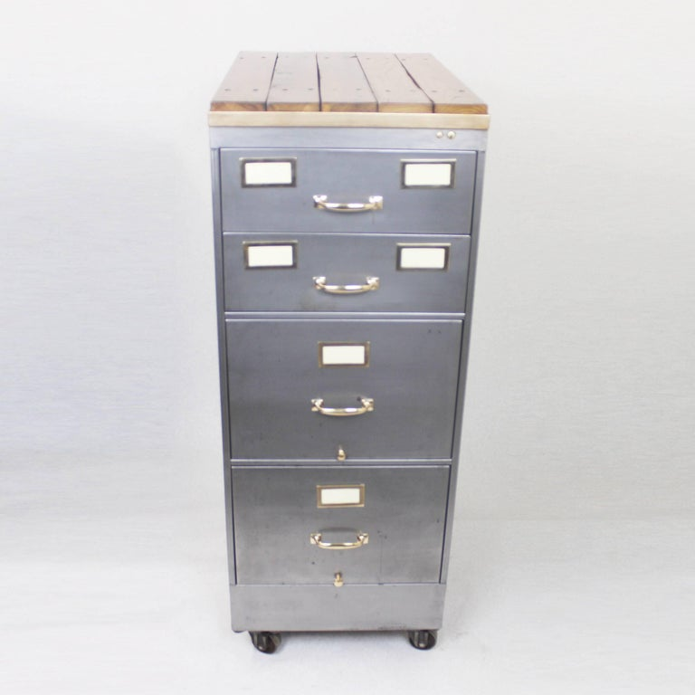 This Wonderful Little File Cabinet Has Been Customized In Our Work With A Hand Stripped