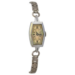 Vintage 1930s Stainless Steel Ladies Mechanical Cocktail Watch
