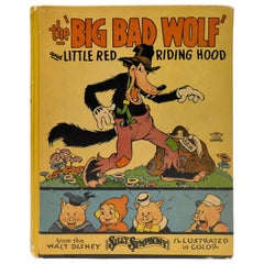 """Vintage 1934 Walt Disney,s The """"Big Bad Wolf"""" and Little Red Riding Hood"""