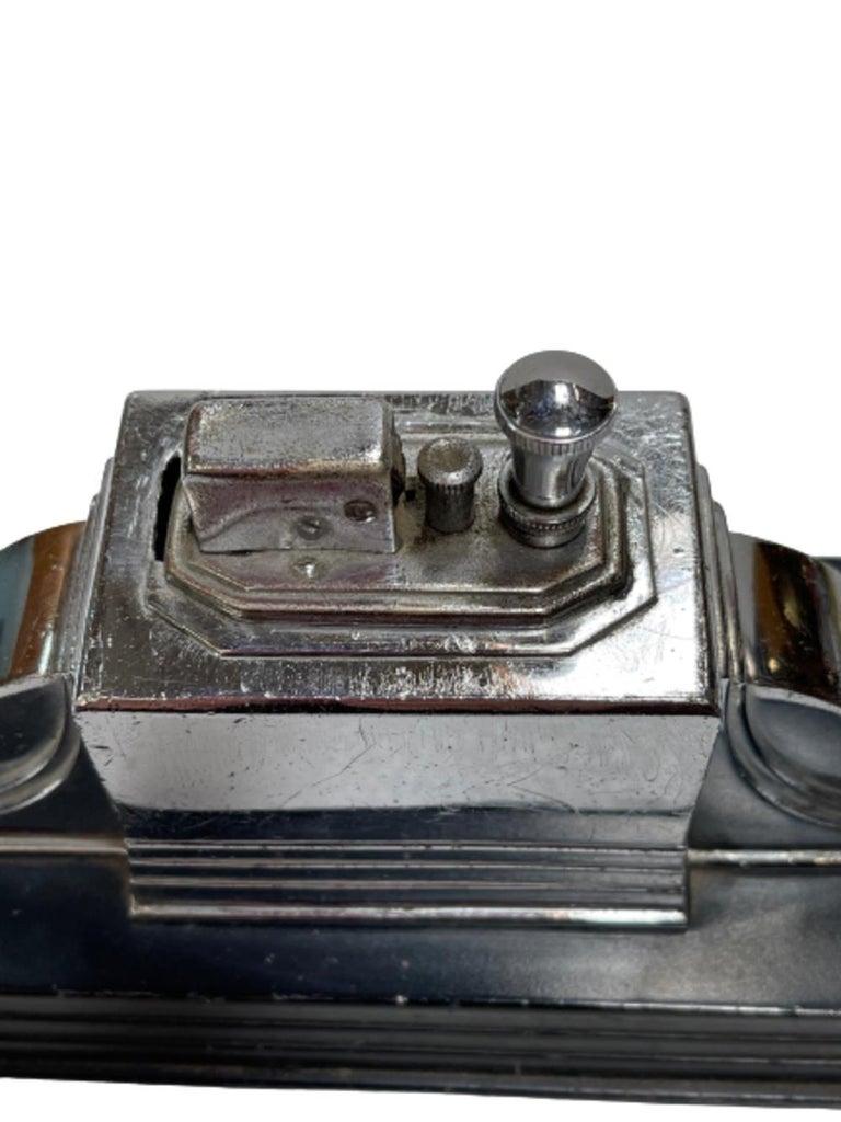 Chrome Vintage 1939 Art Deco Ronson Touch Tip Table Cigarette Lighter
