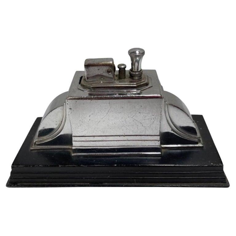 Vintage 1939 Art Deco Ronson Touch Tip Table Cigarette Lighter