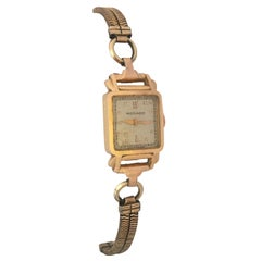 Vintage 1940s 18 Karat Gold Movado Mechanical Ladies Cocktail Watch