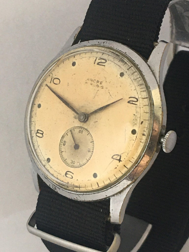 Vintage 1940s ANCRE Mechanical Watch For Sale 6