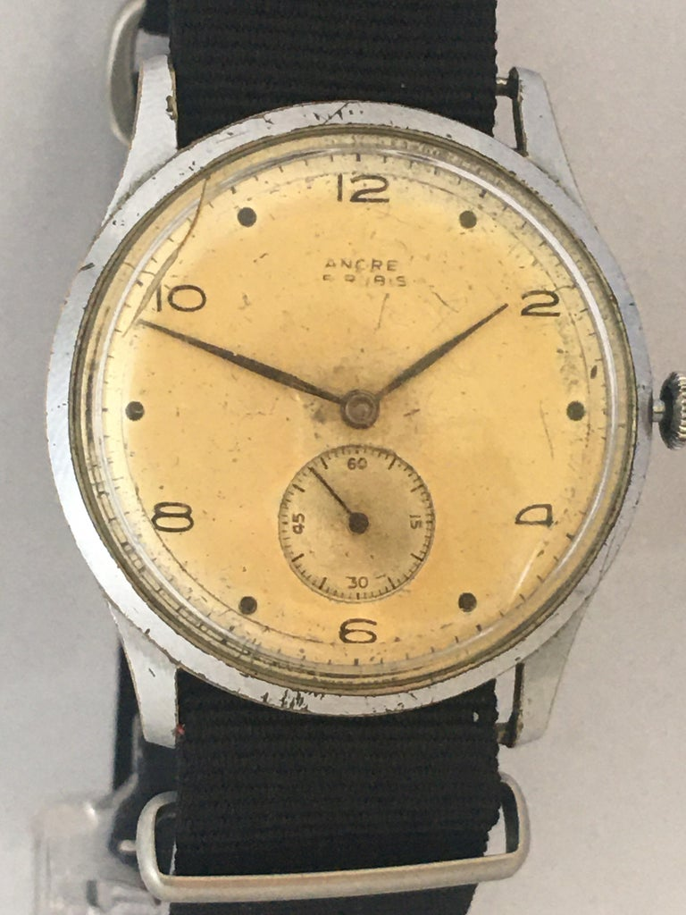 Vintage 1940s ANCRE Mechanical Watch For Sale 7