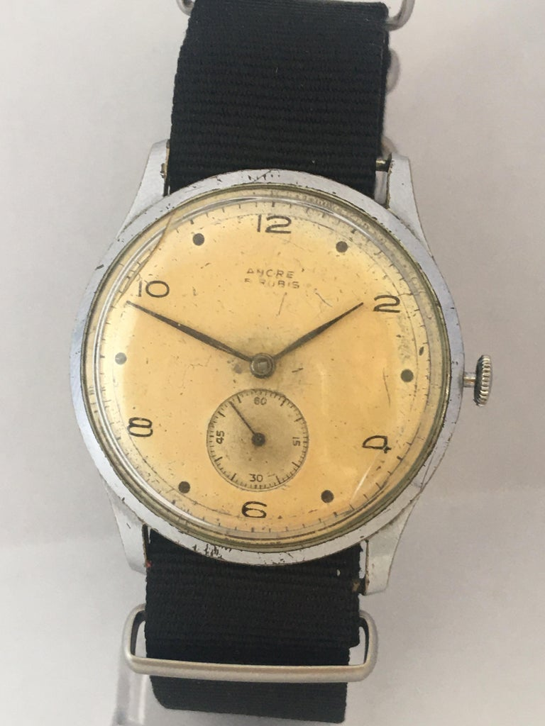 Vintage 1940s ANCRE Mechanical Watch For Sale 9