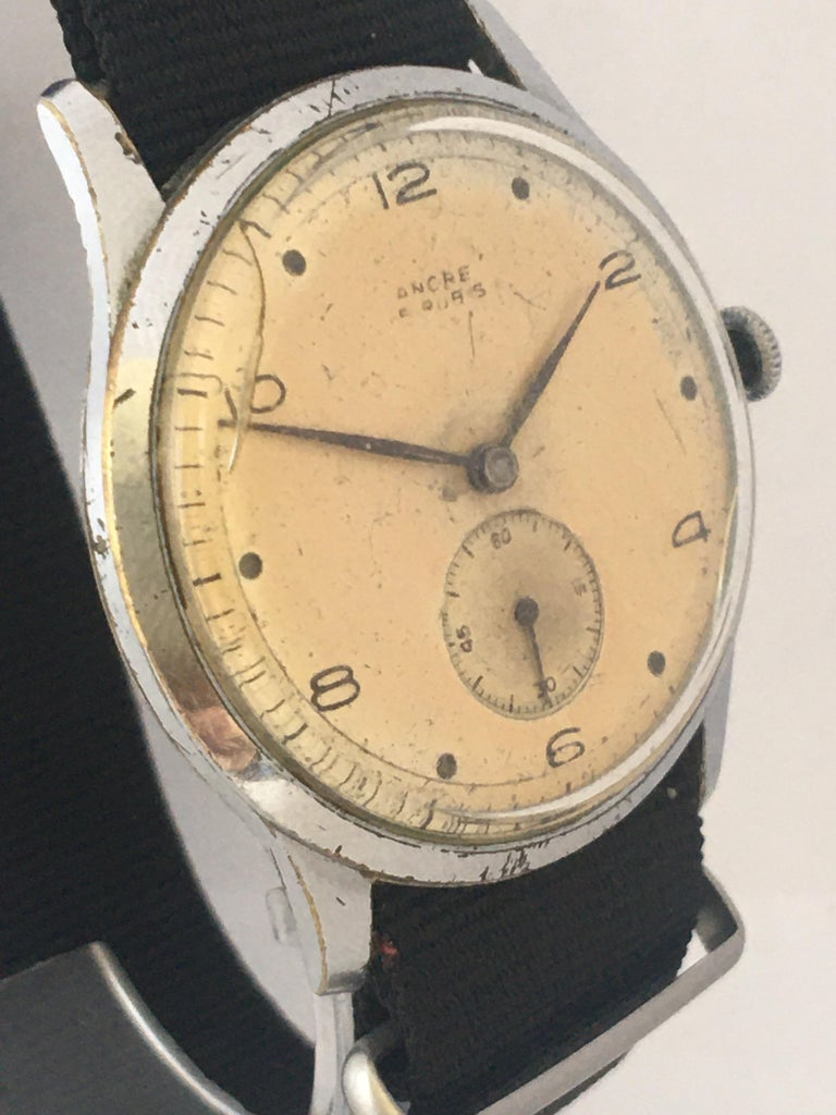 Vintage 1940s ANCRE Mechanical Watch In Fair Condition For Sale In Carlisle, GB