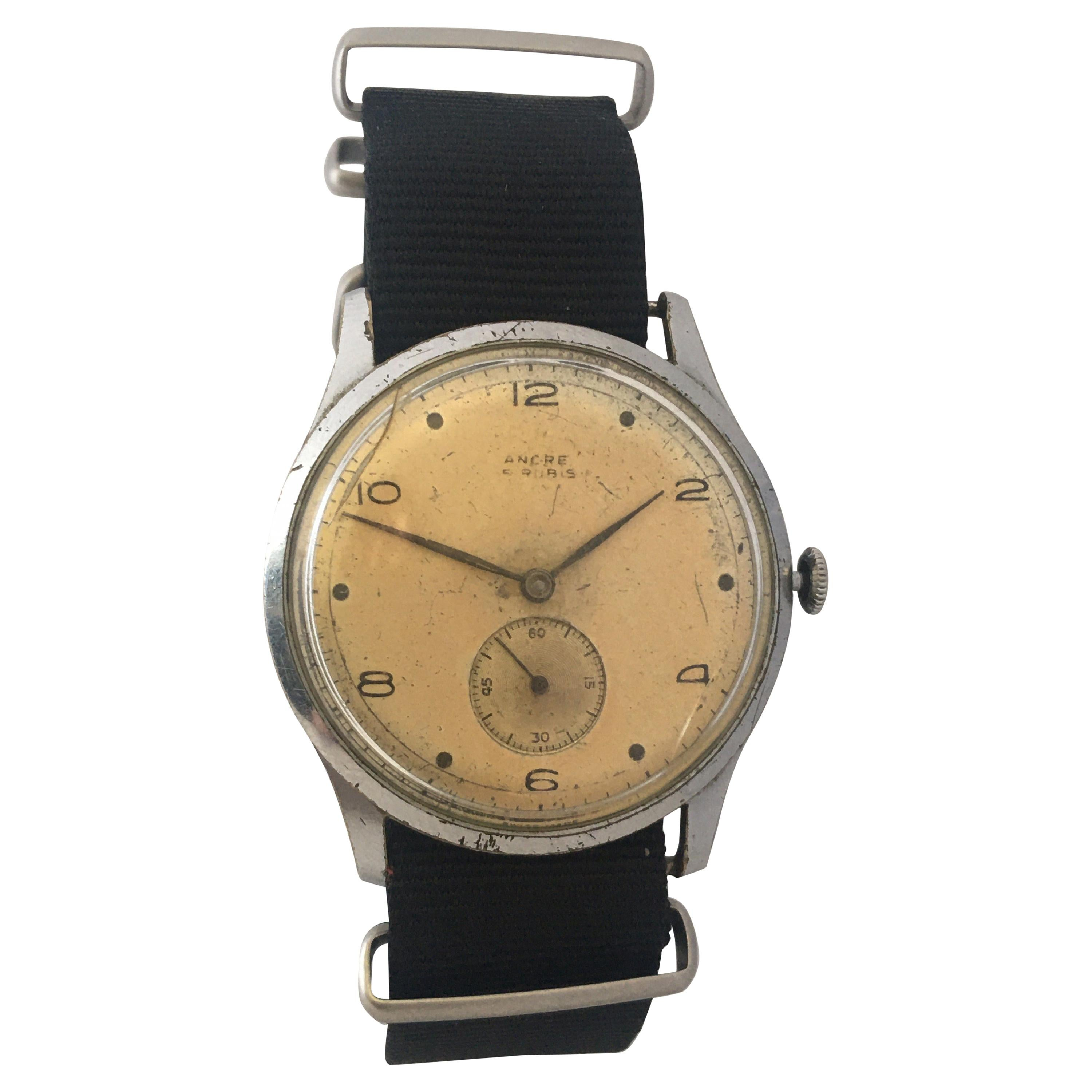 Vintage 1940s ANCRE Mechanical Watch