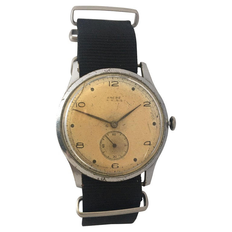 Vintage 1940s ANCRE Mechanical Watch For Sale