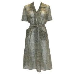 Vintage 1940s Apple Print Dress