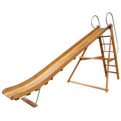 Vintage 1940s Bent Wood Playground Slide