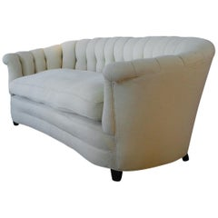 Vintage 1940s Button Tufted Sofa