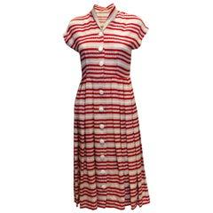Vintage 1940s  Day Dress