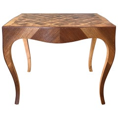 Vintage 1940s Italian Marquetry End Table A