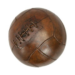 Vintage 1940s Leather Football, Soccer Ball