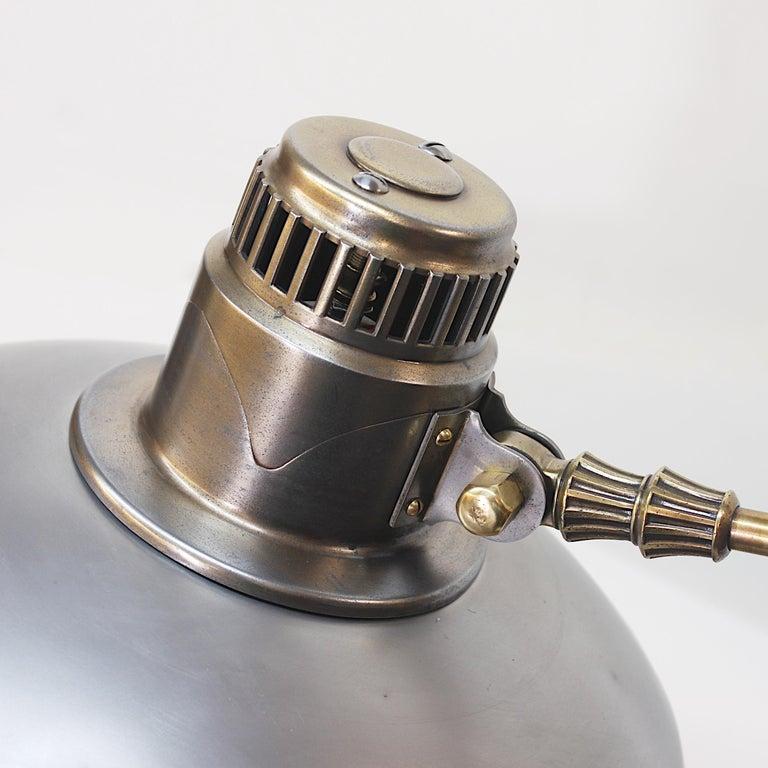 Mid-20th Century Vintage 1940s Mid-Century Modern Industrial Aluminum GE Sunlamp Floor Lamp
