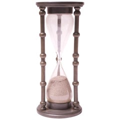 Vintage 1940s Pewter Hour Glass or Sand Timer