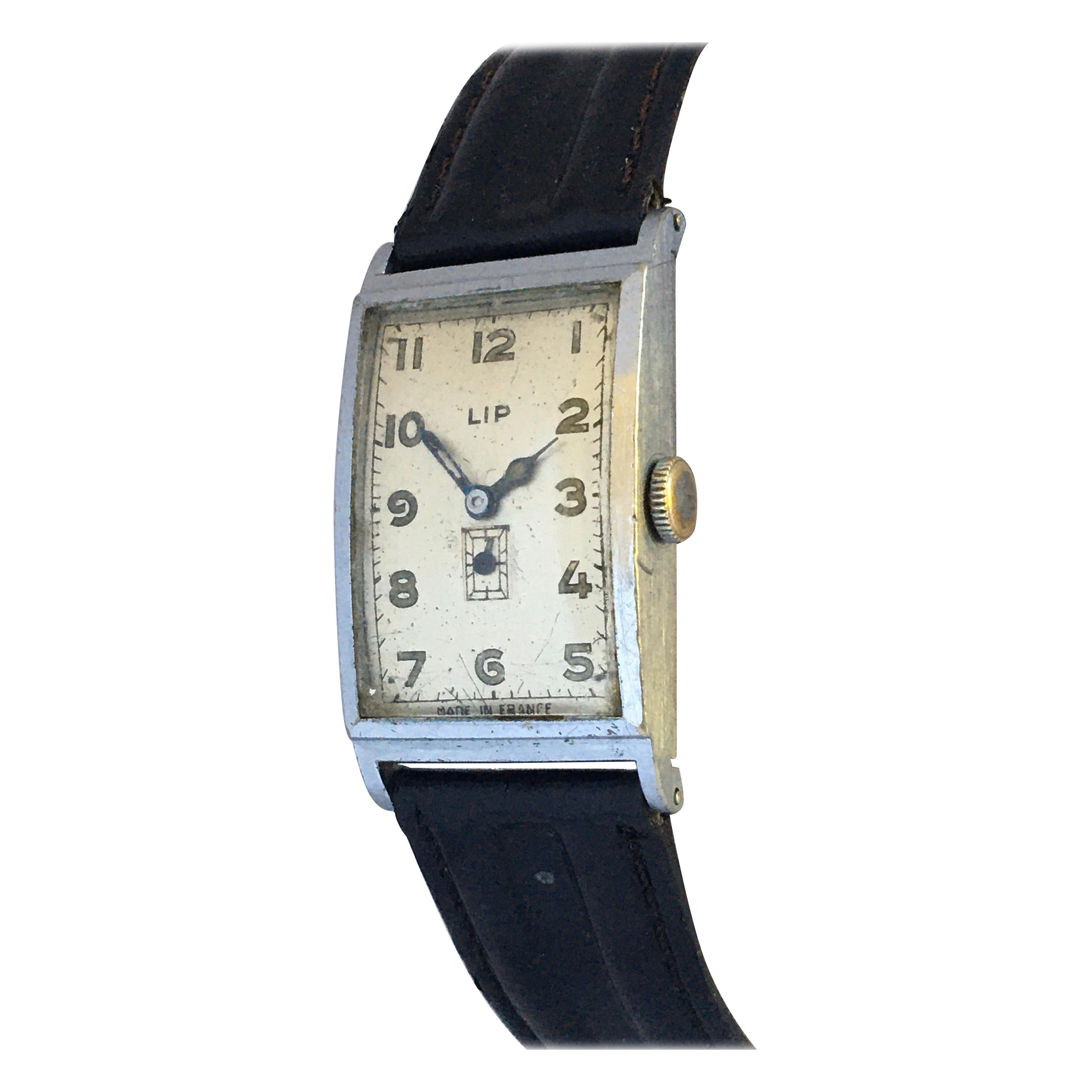 Vintage 1940s Silver plated LIP Mechanical Watch