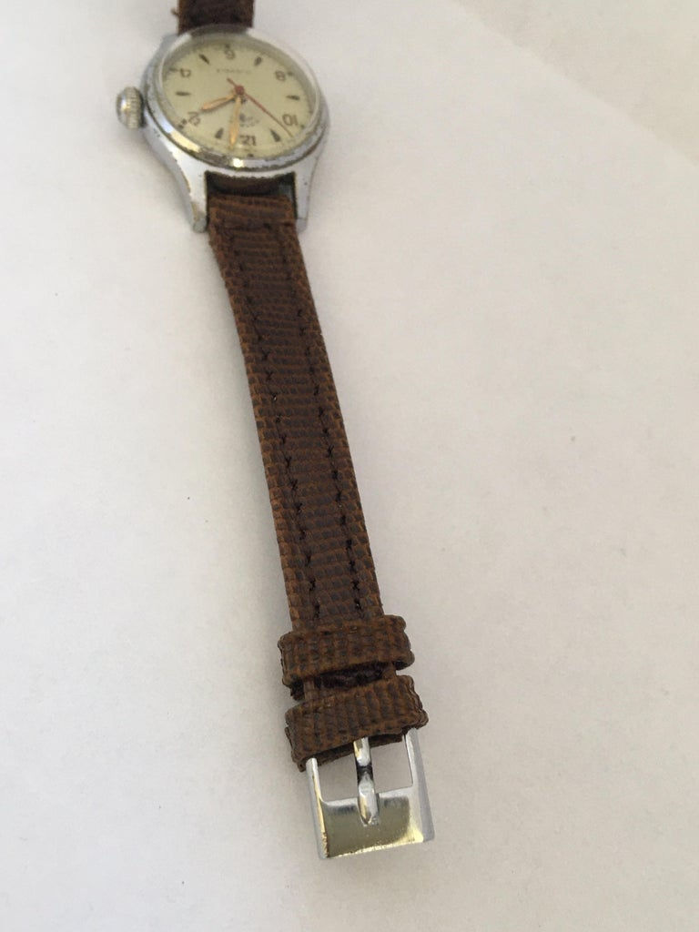 Vintage 1940s Silver Plated Rotary Ladies Mechanical Watch For Sale 1