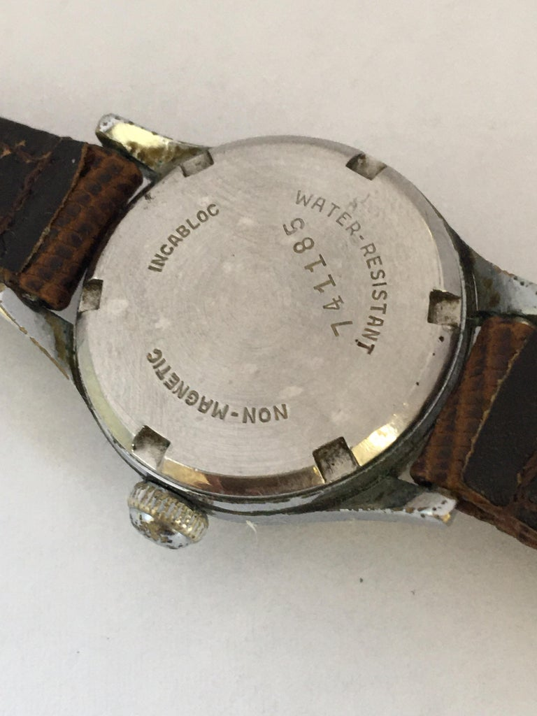 Vintage 1940s Silver Plated Rotary Ladies Mechanical Watch For Sale 2