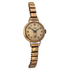 Vintage 1940s Smiths Astral 9 Karat Gold Ladies Mechanical Watch