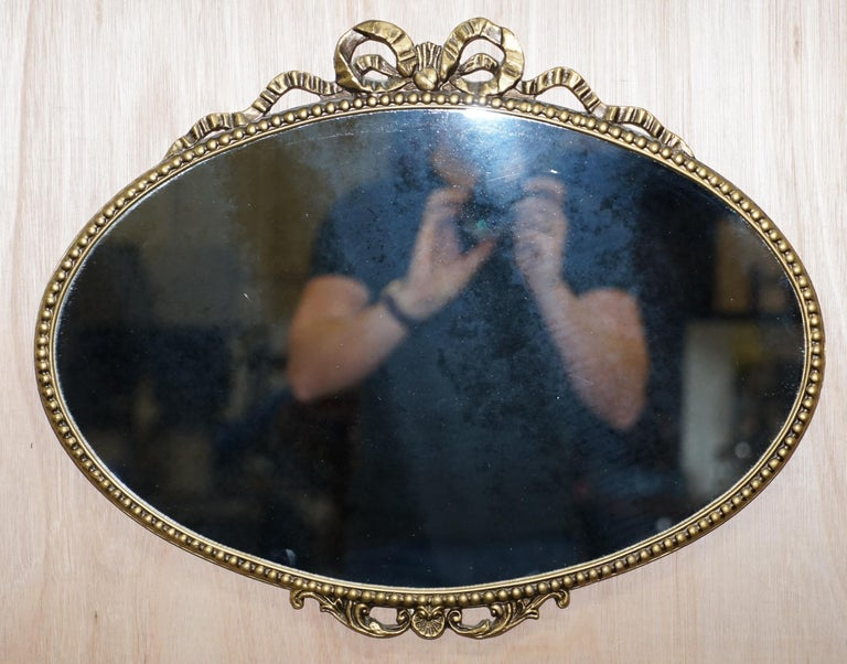 Wimbledon-Furniture  Wimbledon-Furniture is delighted to offer for sale this stunning Shield shaped rectangle mirror with bevelled edge circa 1940  Please note the delivery fee listed is just a guide, it covers within the M25 only, for an